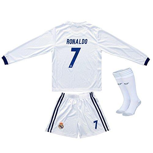 new style 5d544 e7d8f 2016/2017 Real Madrid RONALDO #7 Home Long Sleeve Soccer ...