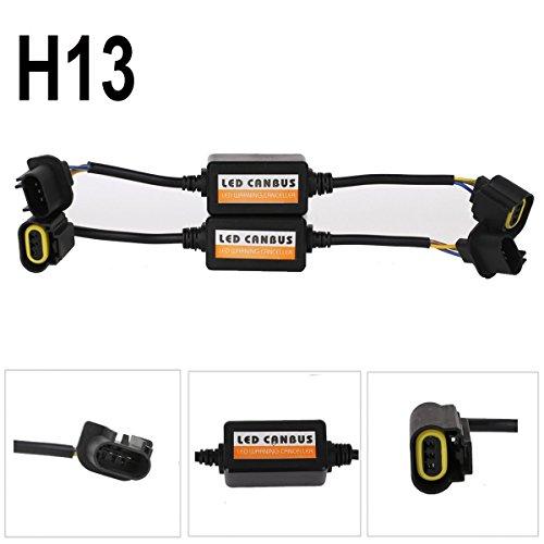 SaiDeng 2 Pcs LED Load Resistor H13/9008 Led Headlight Warning Error Decoder Plug and Play Headlight Kit Canbus LED Decoder