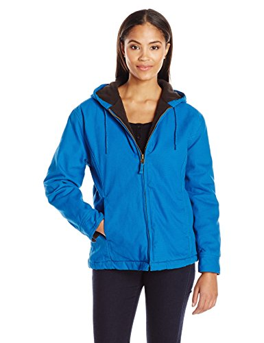 Key Apparel Women's Premium Insulated Fleece Lined Hooded Jacket, Sapphire, Large