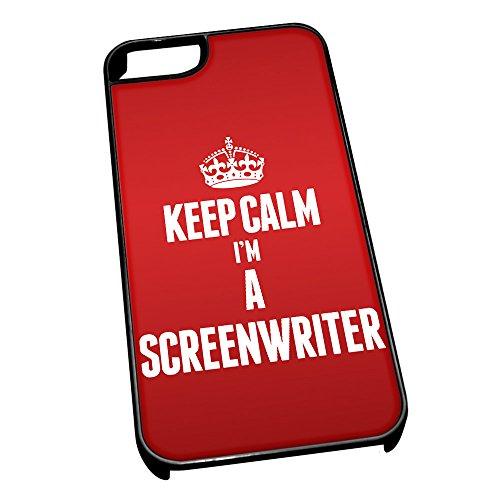 Nero cover per iPhone 5/5S 2672Red Keep Calm I m A Screenwriter
