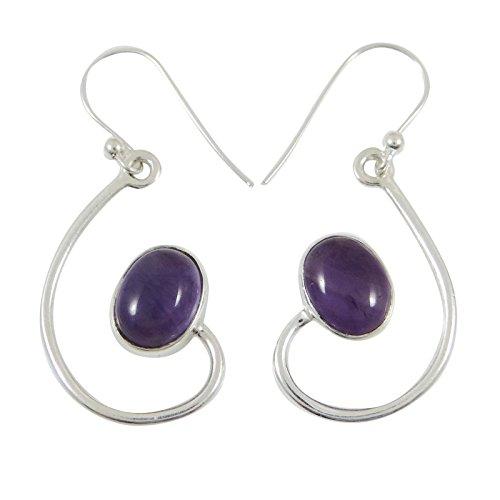 Banithani Améthyste 925 Jeu De Silver Earring Mode Cadeau De Bijoux Pour Les Femmes
