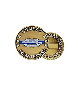 US Army Combat Infantry Badge Challenge Coin