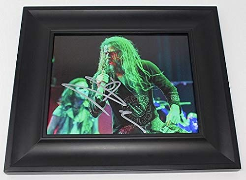 (Rob Zombie Hellbilly Deluxe Signed Autographed 8x10 Glossy Photo Gallery Framed Loa)