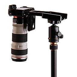 CLOUDSFOTO Aluminum Alloy Folding Camera Z Desktop Stand Holder Tripod Flex Pan & Tilt Ball Head Compatible Slide Rail Camera Camcorder Tripod For Nikon Sony Canon
