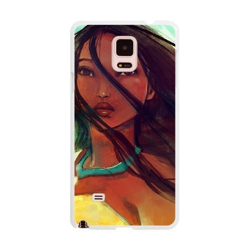 The best gift for Halloween and Christmas Samsung Galaxy Note 4 Cell Phone Case White The beautiful Disney Princess Pocahontas ()