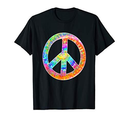 Peace Sign Tye Dye Look Shirt 1970s Party ()