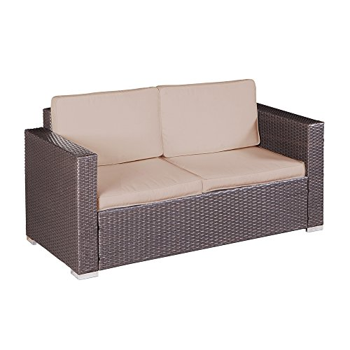 Palm springs modern 4 pc furniture wicker patio set w for Palm springs modern furniture