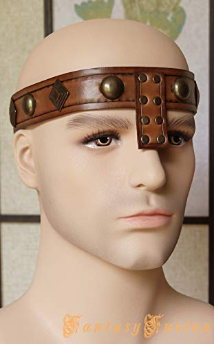 Medieval Barbarian Conan Leather Headband Crown Deluxe]()