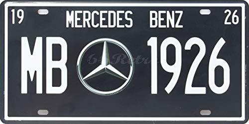 IRANMUN Mercedes Benz MB-1926, Car Plate, Metal Tin Sign, Embossed TAG Number, Size 6