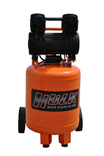 2 HP Quiet Portable Air Compressor, 125 PSI, 10 Gallon, HULK Silent Series, Model HP02P010SS by EMAX Compressor