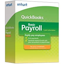 Intuit Quickbooks Basic Payroll 2009 1-3 Employees