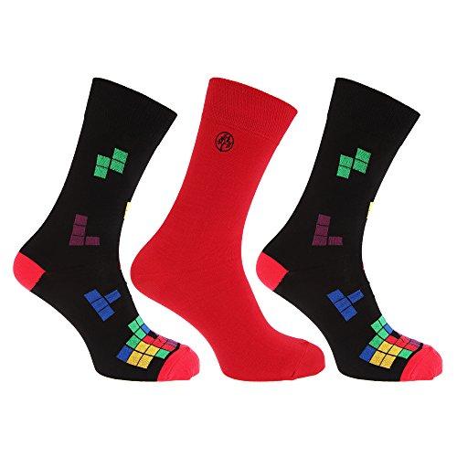 3 Pack Design Socks - 6