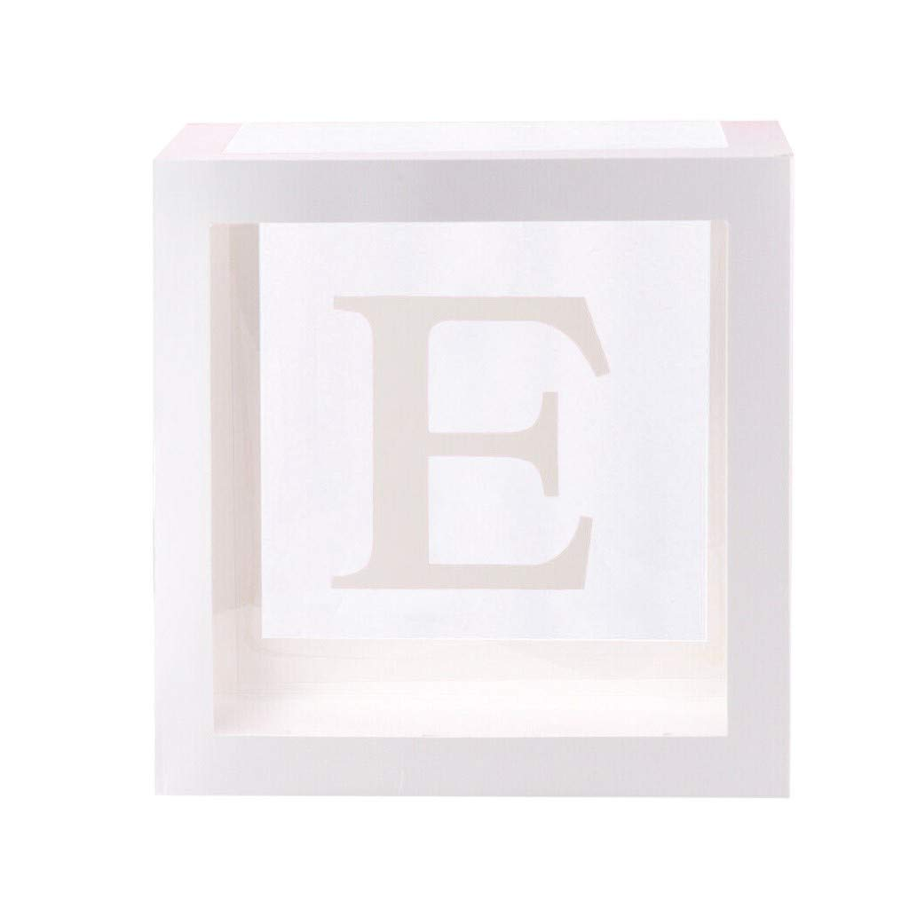 Caja de regalo transparente con dise/ño de letra A a Z para fiesta de cumplea/ños de beb/é viajes decoraci/ón para bodas fiestas tem/áticas A. OKEYsoe