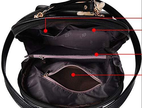 étudiant dos à en plein en Mymao Sac dos Voyage rouge air Sport violet à Voyage Antivol Sac Lady cuir Sac Randonnée qw51xn80