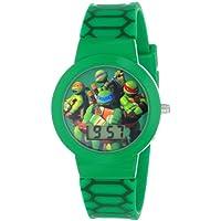 Nickelodeon Boy's Quartz Plastic and Rubber Watch, Color:Green (Model: TMN4027)