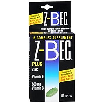 Amazon.com: z-bec Smart Care B-Complex Suplemento, caplets ...