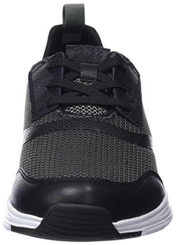 U Black Homme Sage Snapish Vert Sneakers Geox Basses A ACBfHqn1w