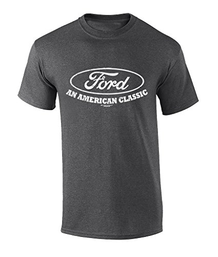 Ford American Classic Logo Graphic T-Shirt-Heather Grey-XL