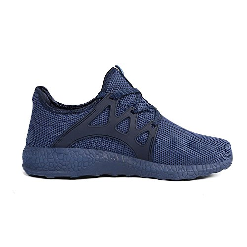 Feetmat Womens Sneakers Ultra Lightweight Breathable Mesh Athletic Running Shoes Plus Size 8.5 Blue