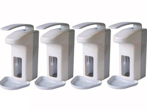 4 Wandspender für 500 ml Flaschen Seifenspender Spender Desinfektionsspender (4 Stück)