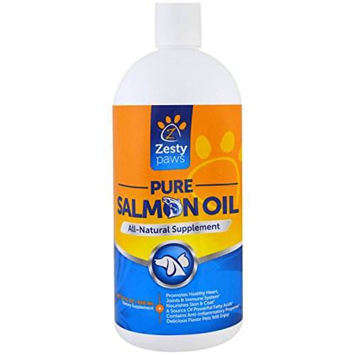 Zesty Paws Pure Salmon Oil for Dogs and Cats All Natural Supplement 32 fl oz 946 ml