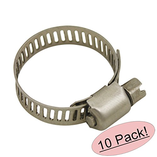 "Cosmas Size 8 All Stainless Steel Hose Clamp - 5/8"" to 1"" Ra"