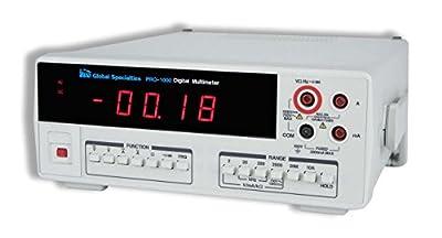Global Specialties PRO-1000 Bench Type True RMS Digital Multimeter with 4-1/2 Digit LED Display