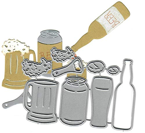 Dies to die for Metal Craft Cutting die - Beer Set - Alcohol/Booze Party
