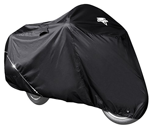 Nelson-Rigg Defender Extreme Motorcycle Cover, All-Weather, Waterproof, Fade Resistant, Air Vents, Heat Shield, Windshield Liner, Compression Bag, Grommets, Large Fits Most Sport Touring and Cruisers