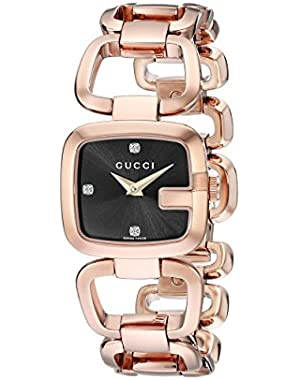 G-Gucci Gold PVD Diamond-Accented Women's Watch(Model:YA125512)