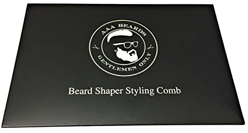 AAA-Beards–All-in-One-Beard-Shaping-Tool-Comb-For-the-Perfect-Goatee-Cut-Line-Up-Edging-Step-Cut-Straight-Cut-Curve-Step-Straight-Line-Side-Burns-Mustache-Grooming-Styling-Stencil