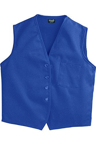 SixStarUniforms Unisex Work Vest with Breast Pocket Royal Blue Small]()