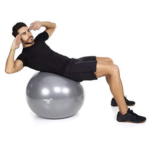 9561a63ad Bola de Pilates Gym Ball 75cm 250 kg Resistência Vollo VP1036   Amazon.com.br  Esportes e Aventura