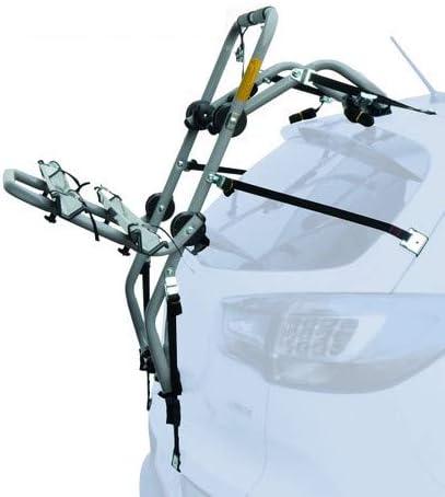 Rails 5P EMMEA PORTABICI Posteriore Auto 2 Bici Regolazione Cinghie Biciclette Compatibile con KIA NIRO 2016- Acciaio CARICO Max 30KG Padova Steel