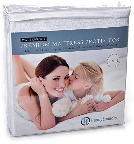 Full Mattress Protector, Waterproof, Breathable, Blocks Dust Mites, Allergens, Smooth Soft Cotton Terry Cover. The Premium Mattress Protector will surely increase the life of your mattress.