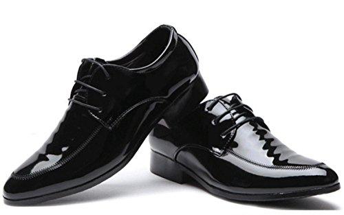 CSDM Big promozione Uomo Casual Scarpe Casual Scarpe da sposa in pelle , black , 43