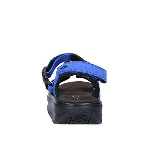 MBT Sandali Donna 38 1/3 EU Blu Nero Pelle Scamosciata