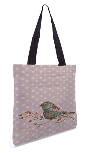 Snoogg Bird Grunge 13.5 X 15 Shopping Shopping Tote Bag Realizzato In Tela Di Poliestere