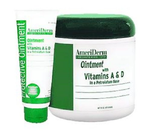 AmeriDerm A and D Protective Ointment with Vitamins A and D - 15 Ounce Jar - in a Petrolatum Base by AmeriDerm