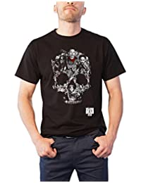 The Walking Dead T Shirt Skull Montage Season 7 Negan Official Mens New Black