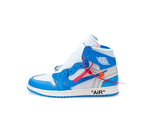 792436cbef71f1 Nike Mens Air Jordan 1 X Off White NRG UNC White Dark Powder ...