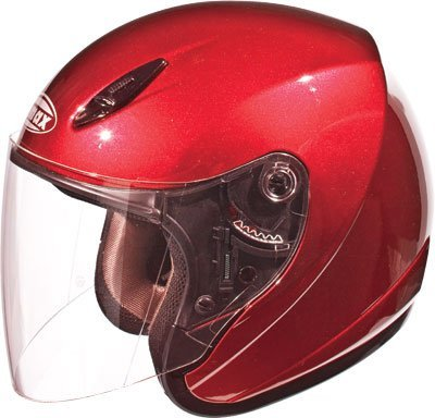 ace Helmet Candy Red Xxl/Xx-Large (Red Gm17 Open Face Helmet)