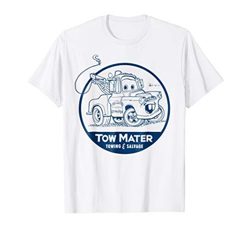 Disney Pixar Cars Tow Mater Salvage Badge Graphic T-Shirt (Disney Cars Womens)