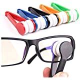 5 Pcs Mini Sun Glasses Eyeglass Microfiber Spectacles Cleaner Soft Brush Cleaning Tool Mini Microfiber Glasses Eyeglasses Cleaner Cleaning Clip (Random Color)