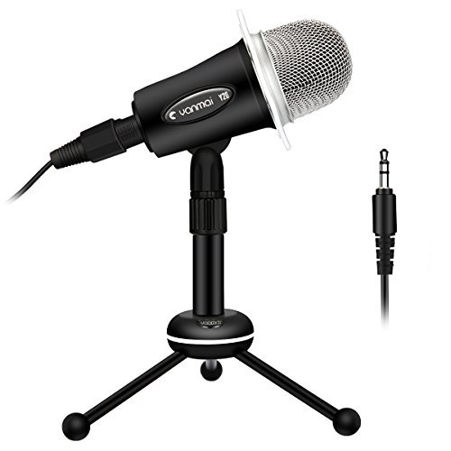 (PC Microphone, ELEGIANT Y20 Portable Condenser Microphone 3.5mm Plug & Play with Tripod Stand Home Studio Recording Microphone for Computer, Smartphone, iPad, Podcasting Karaoke, YouTube, Skype, Games)