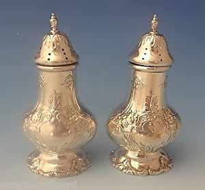 FRANCIS I BY REED & BARTON STERLING SILVER SALT AND PEPPER SHAKERS 2-PC. #0236