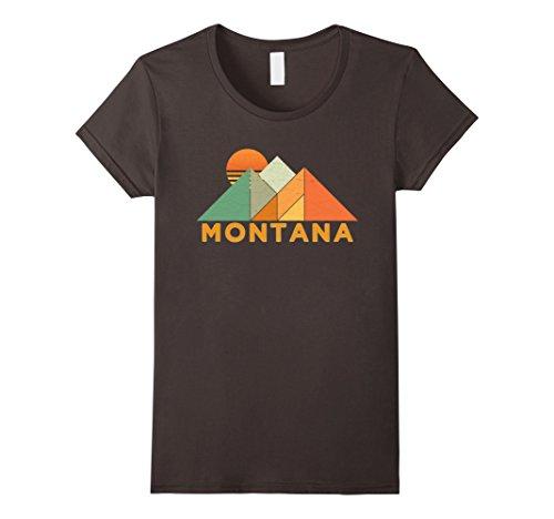 Womens Retro Vintage Montana T Shirt Distressed Shirt Small Asphalt