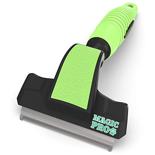 Professional Magic Pro Deshedding Tool; Reduces Shedding by up to 95%; Prevents Flakiness on Pet's Skin, Lessens Dandruff; a Trusted, Durable, Long Lasting Pet Shedding Brush for Cats and Dogs
