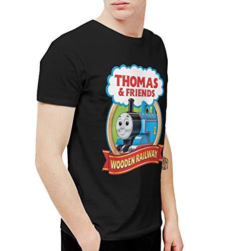 Amerltees Men's Thomas The Tank Engine & Friends Short Sleeve T-Shirt Black 4XL