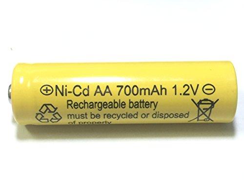 700mah AA NiCd 1.2v Rechargeable Batteries Garden Solar Ni-Cd Light LED S (Pack of 20)